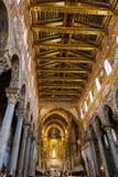 Interior of Duomo di Monreale in Sicily Stock Photography