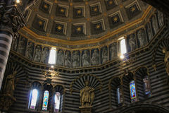 Interior of the Duomo di Siena. Metropolitan Cathedral of Santa Maria Assunta. Tuscany. Italy. Stock Photo