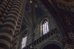 Interior of the Duomo di Siena. Metropolitan Cathedral of Santa Maria Assunta. Tuscany. Italy. royalty free stock image