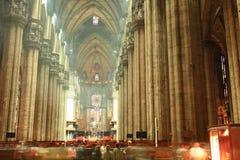 The interior of Duomo Milan Stock Image