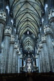 The interior of Duomo, Milan, Royalty Free Stock Photos