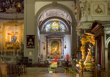 Interior of the Duomo in Palmanova Stock Photos