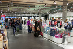 Interior of Duty Free Shop at Oslo Gardermoen International Airp Royalty Free Stock Photography