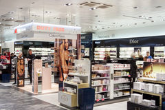 Interior of Duty Free Shop at Oslo Gardermoen International Airp Stock Photography
