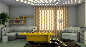 Interior of the dwelling room Royalty Free Stock Image