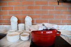 Interior e projeto da cozinha imagem de stock