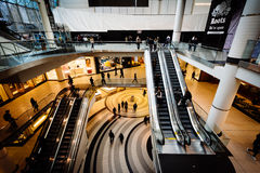 The interior of the Eaton Centre, in downtown Toronto, Ontario. Royalty Free Stock Images