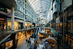 The interior of the Eaton Centre, in downtown Toronto, Ontario. Royalty Free Stock Photo