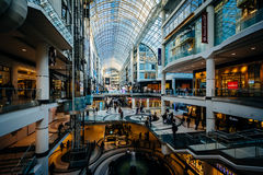 The interior of the Eaton Centre, in downtown Toronto, Ontario. Royalty Free Stock Photos