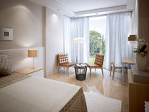 Interior ecléctico del dormitorio Imagen de archivo