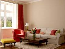 Interior in eclectic style Royalty Free Stock Images