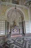 Beautiful fairy tale castle stock photos