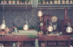 Interior ecológico da cozinha Fotografia de Stock