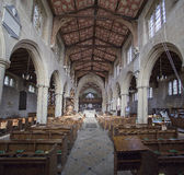 Interior of Edington Priory Church Wiltshire Stock Photo