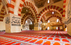 Interior of the Edirne Old Mosque Royalty Free Stock Photos