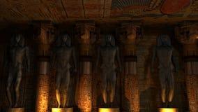 Interior egipcio del templo stock de ilustración