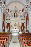 Interior of El Cobre church and sanctuary Stock Image