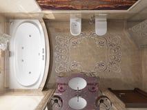 Interior el cuarto de baño en estilo clásico Fotografía de archivo libre de regalías