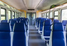 Interior of electric train Royalty Free Stock Photo