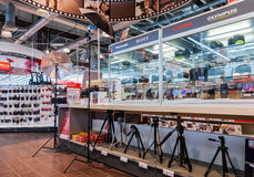 Interior of the electronics shop M-Video in Samara, Russia Royalty Free Stock Image
