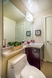 Interior of elegant bathroom. Interior design of a spacious and elegant bathroom Royalty Free Stock Photography