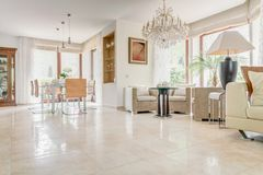 Interior of elegant exclusive villa Royalty Free Stock Photography