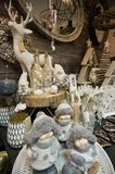 Interior of a home articles shop with Christmas decoratoins Royalty Free Stock Photo