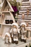 Interior of a home articles shop with Christmas decoratoins Stock Photography