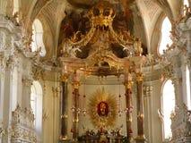 Interior elegante de Wilten Abbey Basilica en Innsbruck Fotos de archivo