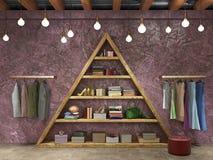 interior elegante do boutique Imagens de Stock Royalty Free