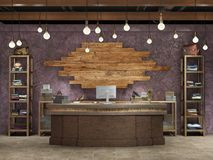 interior elegante do boutique Fotos de Stock Royalty Free