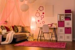 Interior elegante para la muchacha de la princesa fotos de archivo libres de regalías