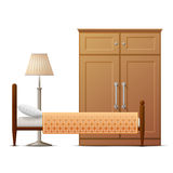 Interior elements of hotel room Royalty Free Stock Photography