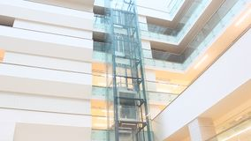 Interior elevator stock video footage