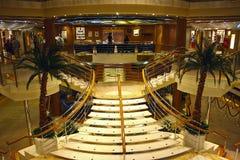 Interior em um navio de cruzeiros Fotografia de Stock Royalty Free