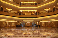 Interior of the Emirates Palace Stock Images