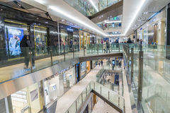 Interior of Emporium Melbourne in Melbourne. Melbourne, Australia - August 1, 2015: Interior of Emporium Melbourne, a premier shopping centre with flagship Royalty Free Stock Photos