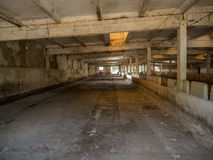 Interior empty, abandoned building. Photos taken outside the city Royalty Free Stock Photo