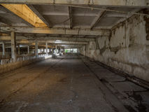 Interior empty, abandoned building scene 3. Photos taken outside the city Stock Photo