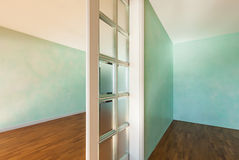 Rooms with sliding door Stock Photo