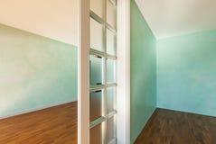 Rooms with sliding door Stock Photo