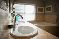 Interior of empty bathroom Stock Photos