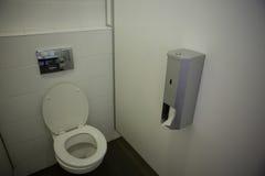 Interior of empty bathroom. At school Stock Photos
