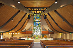 Interior of an empty church Royalty Free Stock Photography
