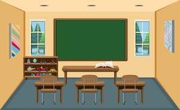 An interior empty classroom. Illustration royalty free illustration