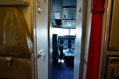 Interior of empty cockpit interior Stock Photo
