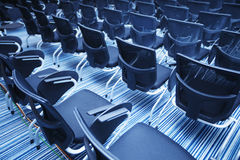 Interior of empty conference hall. With Plastic chairs , close-up Stock Image
