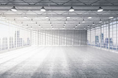 Interior empty factory. 3d rendering interior empty factory Royalty Free Stock Image