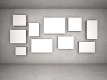 Interior with empty frames on wall Stock Photography
