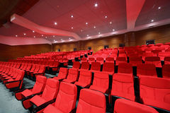 Interior of empty hall with arm-chairs Royalty Free Stock Photos